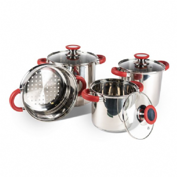 Kampa Space Saver Deluxe Saucepan Cook Set